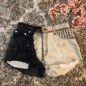 Levi's 550 Upcycled Black and White Shorts